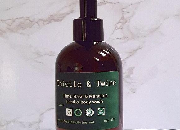 Lime, Basil & Mandarin Hand & Body wash 250ml ( lotion sold separately)