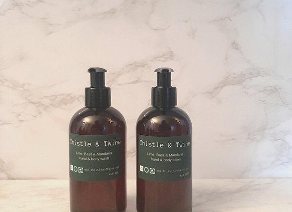 Lime, Basil & Mandarin package  (wash & lotion)