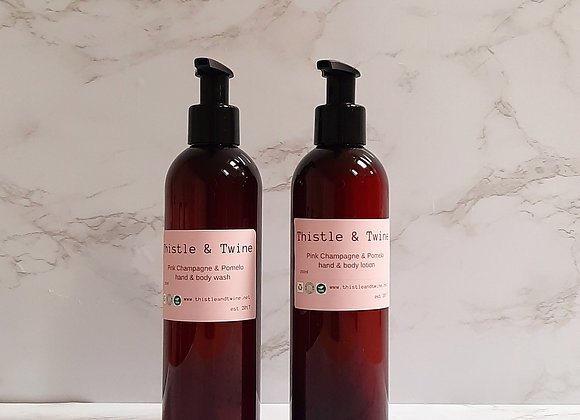 Pink Champagne & Pomelo  package ( wash & lotion)