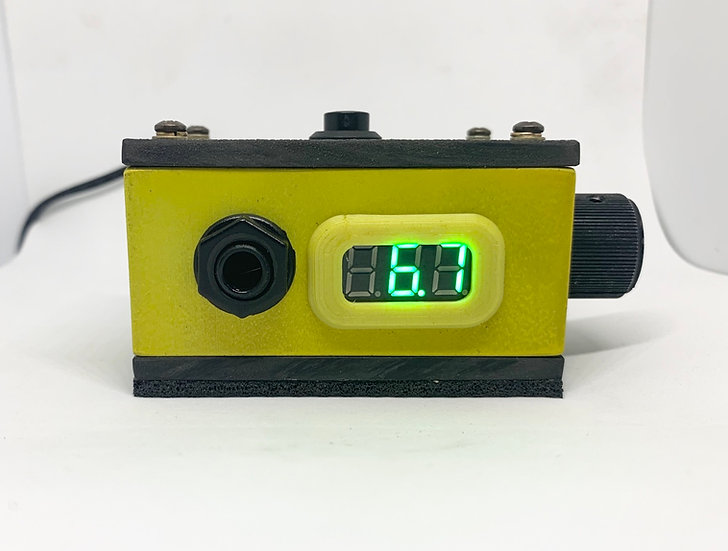 Matte yellow Apollo pocket rocket power supply