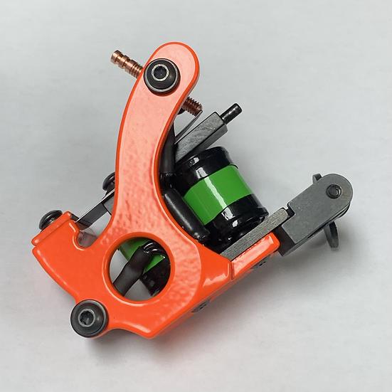 Aluminum 1inch mini walker reaper coil  shader neon orange n green