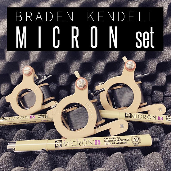 Braden Kendell micron set of 3 machines