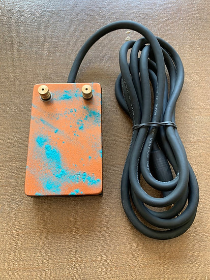 Copper and teal splatter heavy duty foot pedal