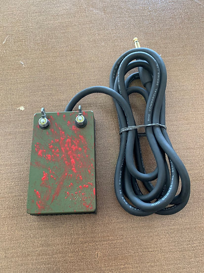 Camo green and red splatter heavy duty foot pedal