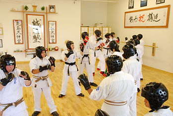Sparring class in Hollywood Dojo