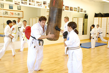 Conditioning class in Hollywood Dojo