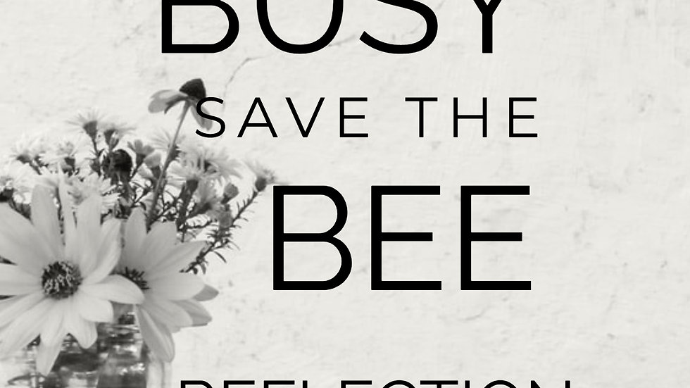 Kill the Busy, Save the Bee: Reflection Journal