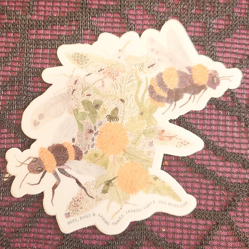 Bees, Bugs & Spring Things Sticker