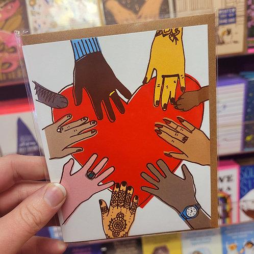 Peace + Hands Card