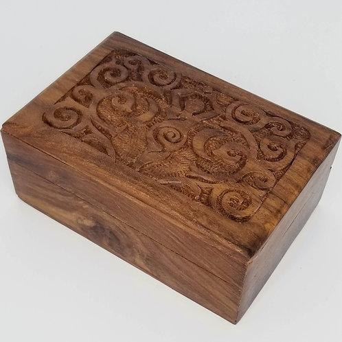 Wooden Box with Goddess Design