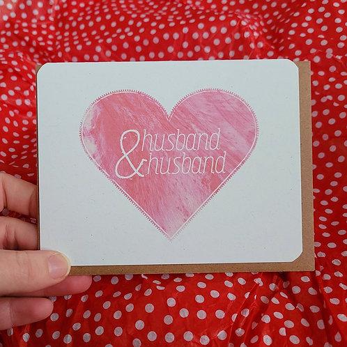 Husband & Husband Wedding Card
