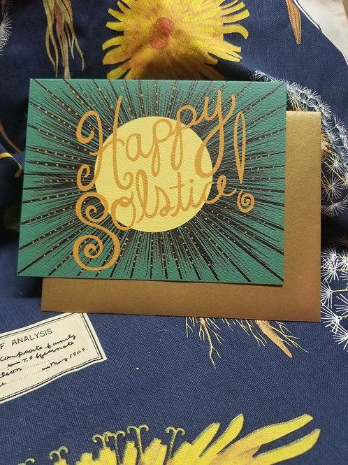 Happy Solstice Moonburst Card