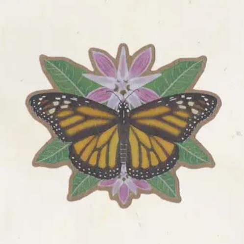 Monarch & Milkweed Sticker