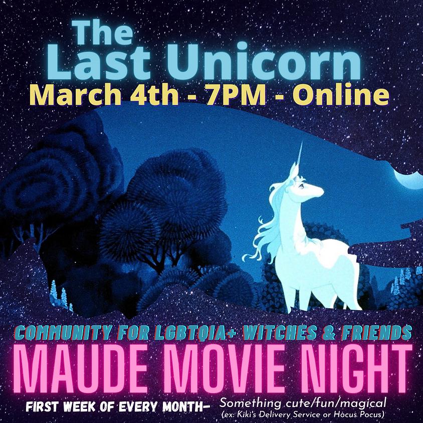 Maude Movie Night - The Last Unicorn