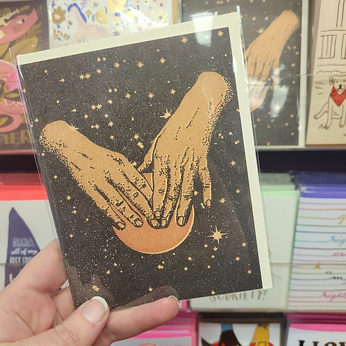 Hands in Space Card