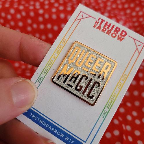 Queer Magic Pin - White