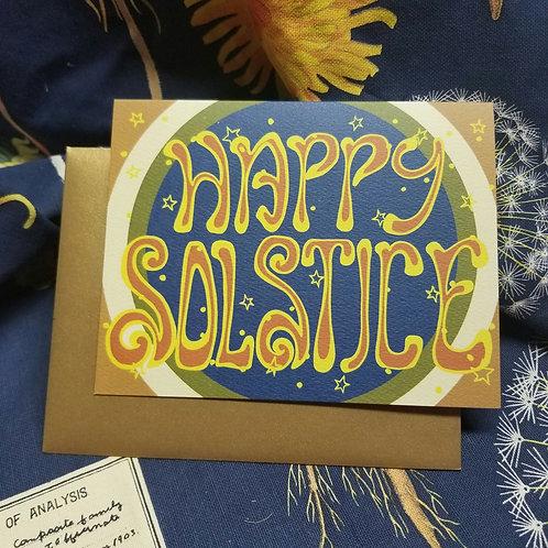 Happy Solstice Card