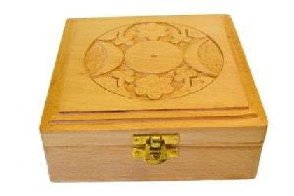 Square box with Triple Moon Design
