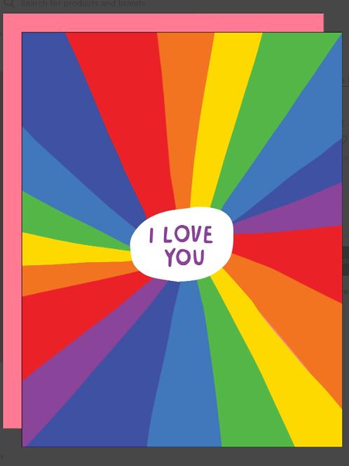 Rainbow I Love You Card