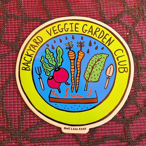 Backyard Veggie Garden Club Sticker