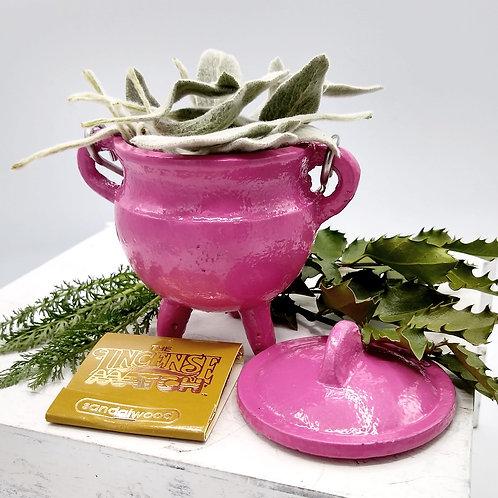 Pink Pot Belly Cauldron