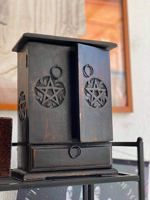 Altar-top Cupboard with Pentagram Deisgn