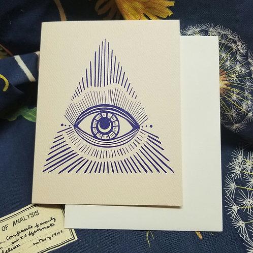 Blue Vision Greeting Card