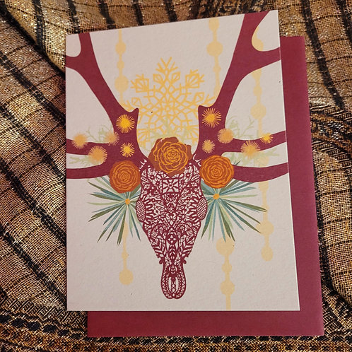 Lace Stag Holiday Card