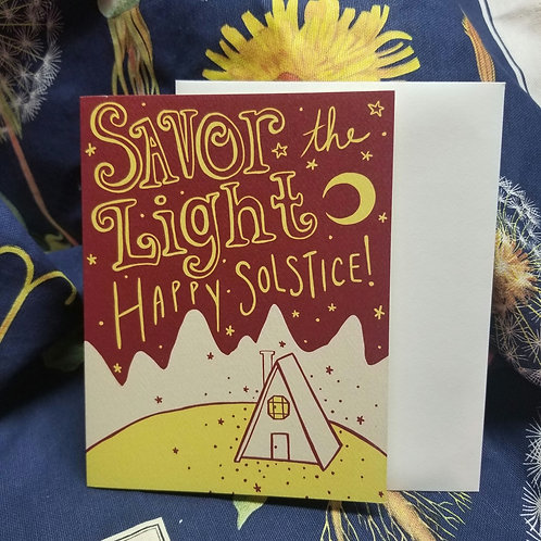 Savor the Light Solstice Greeting Card