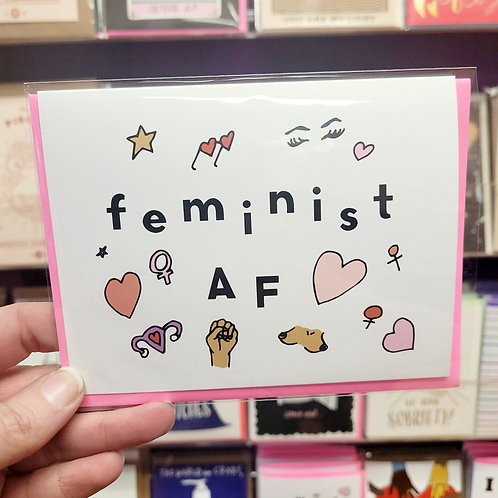 Feminist AF Card