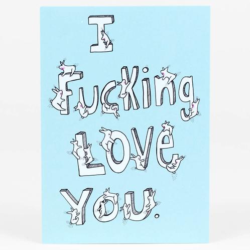 I F&*king Love You Postcard