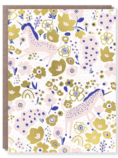 Unicorn Naps Blank Card