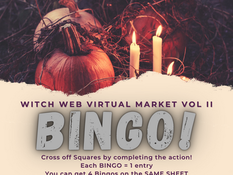 Witch Web BINGO!!!