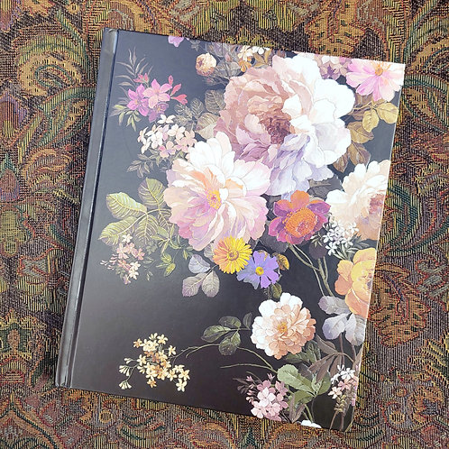 Midnight Floral Journal