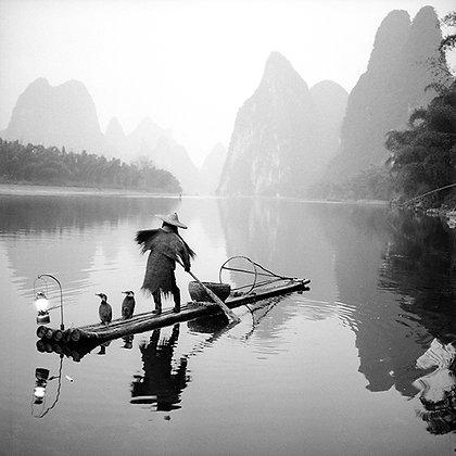 "Jo Farrell - ""Cormorant Fishermen, Yangshuo"" - Signed Limited Edition of 25"