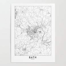 Bath Map Poster
