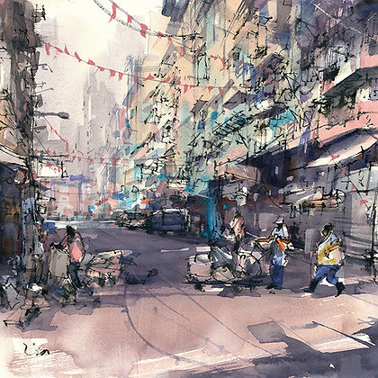 "Lisa Huang - ""Romancing Temple Street"" - Signed Limited Edition of 25"