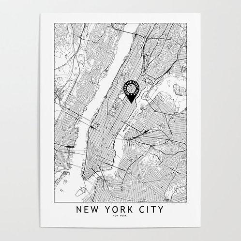 New York City Custom Map