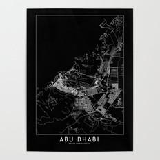 Abu Dhabi Map Poster