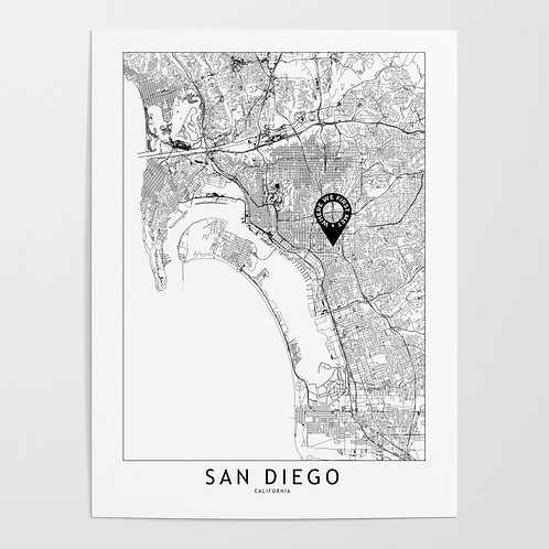 San Diego Custom Map