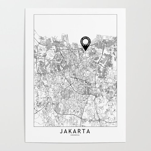 Jakarta Custom Map