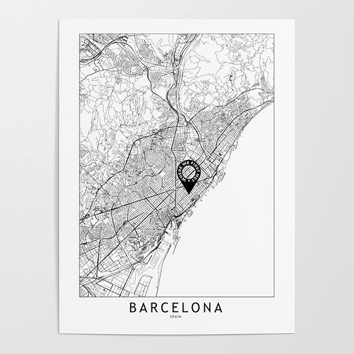 Barcelona Custom Map