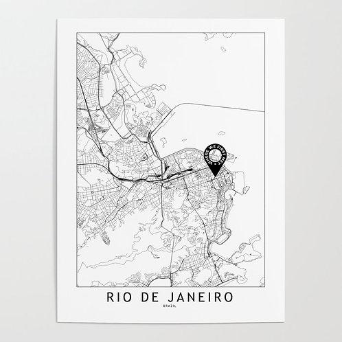 Rio De Janeiro Custom Map
