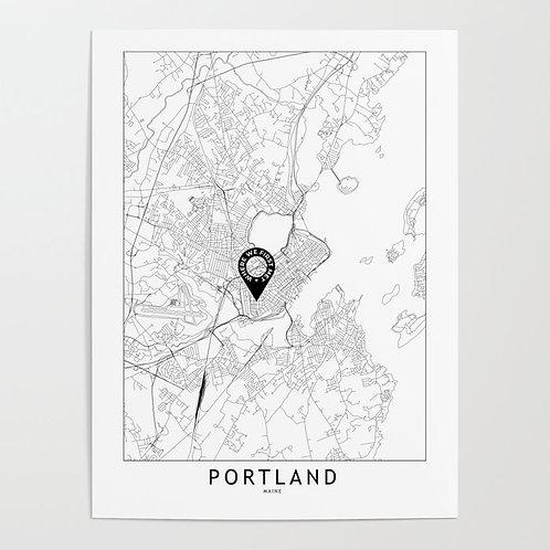 Portland Maine Custom Map