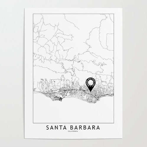 Santa Barbara Custom Map