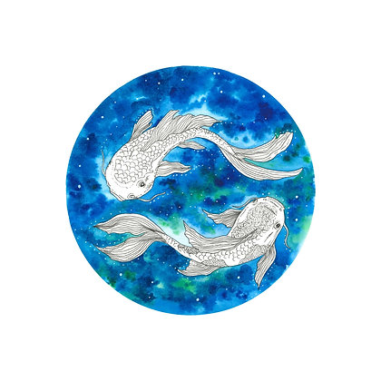 "The Quiet Place - ""Ultramarine Koi Fish"""