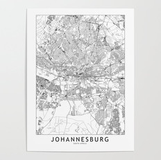 Johannesburg Map Poster