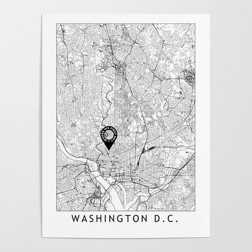 Washington DC Custom Map