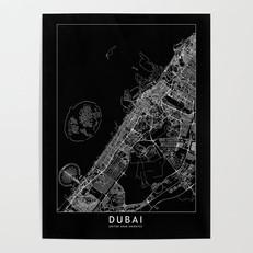 Dubai Map Poster