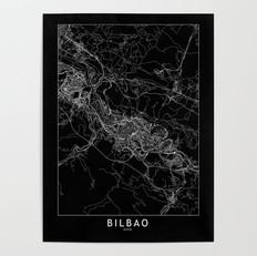 Bilbao Map Poster